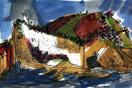 Weekly Sketch – Inky Bay Of Naples – 23/02/2013