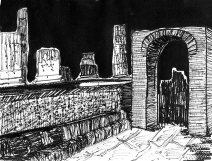 Weekly Sketch – Inky Pompeii – 16/02/2013