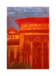 Photo-etching; Chine-collé & Ink Hand Colouring